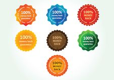 Free Money Back Guarantee Labels Stock Photography - 31482082