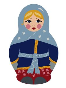 Free Bubushka Doll In Winter Royalty Free Stock Image - 31483096