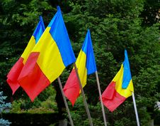 Free Romanian Flags Royalty Free Stock Photos - 31484438