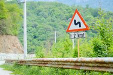 Free Traffic Curve Road Sign Stock Photo - 31485260
