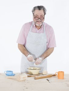 Free Grandpa Baker Royalty Free Stock Photo - 31486805