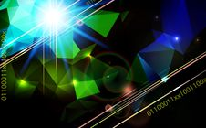 Abstract Lens Flare Technology  Background. Royalty Free Stock Image