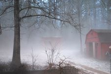 Free Fog After A Hail Storm Stock Photography - 31494142