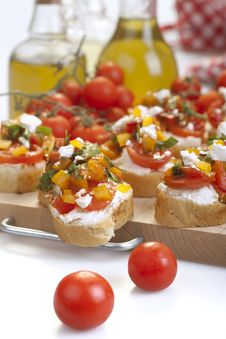 Free Appetizer Called Bruschetta Stock Photo - 31499460