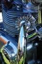 Free Close Up Triumph Engine 750 Royalty Free Stock Image - 3150396