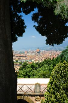 Free Florence From The Tree Royalty Free Stock Image - 3151436