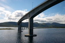 Free Curved Bridge In Norway Stock Images - 3151654