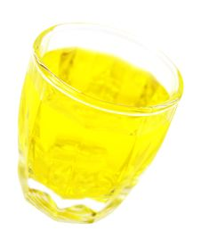 Free Glass With Lemon Water Stock Image - 3151711
