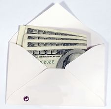 Free US Dollars In Envelope Royalty Free Stock Photography - 3152007