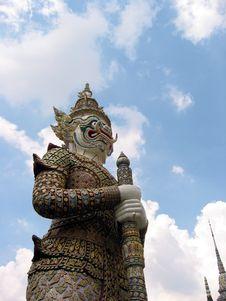 Free Grand Palace Guard - Bangkok Stock Image - 3152141
