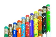 Free Colorful Pencils Royalty Free Stock Image - 3152646