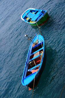 Free Blue Fishing Boats Royalty Free Stock Photo - 3152925