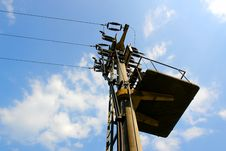 Free Local Electric Mast Royalty Free Stock Photography - 3153467