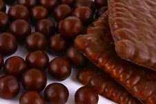 Free Chocolate Sweets Against White Stock Photos - 3153673