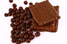 Free Chocolate Sweets Against White Stock Photos - 3153733