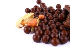 Free Chocolate Sweets Against White Stock Image - 3153741