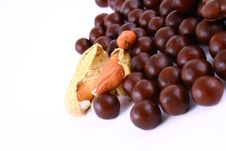 Free Chocolate Sweets Against White Royalty Free Stock Photography - 3153757