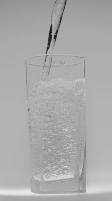 Water In A Glass Stock Image
