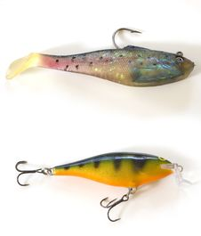 Two Kinds Of Lures Stock Photos