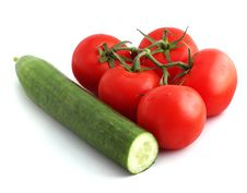 Free Cucumber And Tomatoes Stock Photos - 3154683