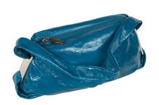 Free Leather Dark Blue Female Bag Royalty Free Stock Images - 3154709
