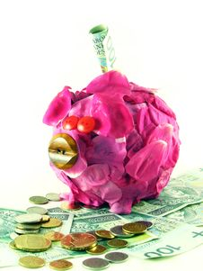Free Pink Pig Of Money-box Stock Photo - 3155250