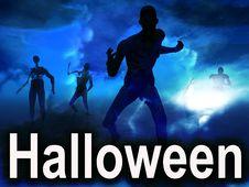 Free Halloween Zombies 3 Royalty Free Stock Photos - 3155578