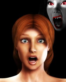 Free Vamp Scare 1 Royalty Free Stock Image - 3155736