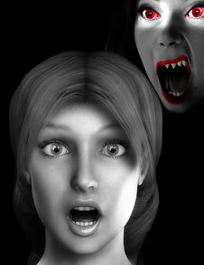 Free Vamp Scare 4 Royalty Free Stock Image - 3155746