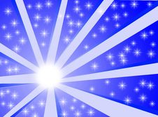 Blue Starburst Background Royalty Free Stock Images