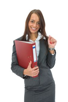 Free Business Woman With Folder Royalty Free Stock Photo - 3158395