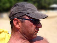 Free Man At The Beach Stock Photo - 3158710