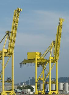 Free Two Container Cranes Stock Image - 3159311