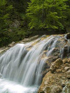 Free Waterfall On Mountain River Stock Image - 3159591