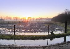 Free Sunset Over Flooded Field Stock Photo - 3159670