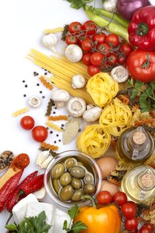 Free Pasta Ingredients Stock Photography - 31502502