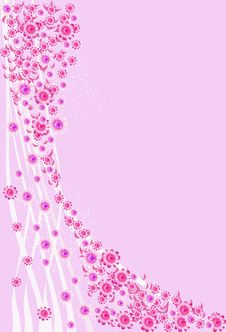 Pink Background With Pink Flowers. Royalty Free Stock Photos
