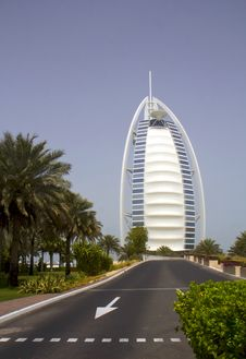The UAE. Hotel Burj Al Arab . Stock Image