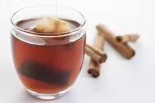 Free Cup Of Red Tea With Cinnamon Royalty Free Stock Photos - 31508078