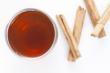Free Cup Of Red Tea With Cinnamon Stock Photography - 31508082