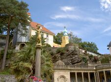 Free Portmeirion Central Piazza North Wales Royalty Free Stock Images - 31508799