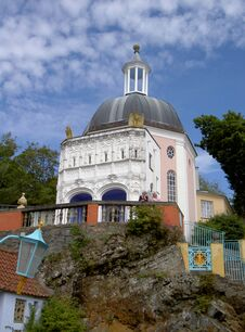 Free Portmeirion Clifftop And Grotto North Wales Stock Images - 31508804