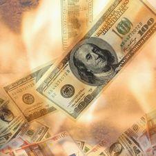 Free Burning Dollar Bill Stock Images - 31508834