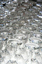 Free Rows Of Empty Wine Glasses On The Table Royalty Free Stock Image - 31513676