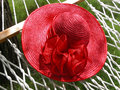 Free Red Straw Hat & Hammock Royalty Free Stock Images - 31516229