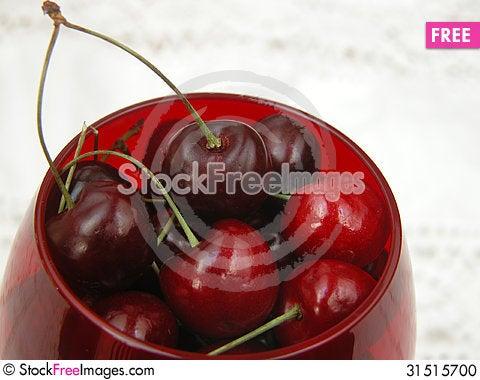 Free Red Cherries Stock Photo - 31515700