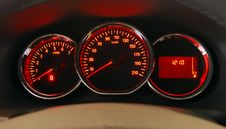 Illuminated Dashboard Stock Photos