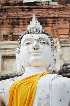 Free Buddha Statues At Wat Yai Chai Mongkol In Ayutthaya, Thailand Royalty Free Stock Image - 31513116
