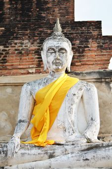 Free Ancient Buddha Statues At Wat Yai Chai Mongkol In Ayutthaya Stock Photos - 31513133