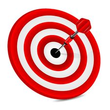 Free Target Of Red Color And Dart Stock Images - 31514884